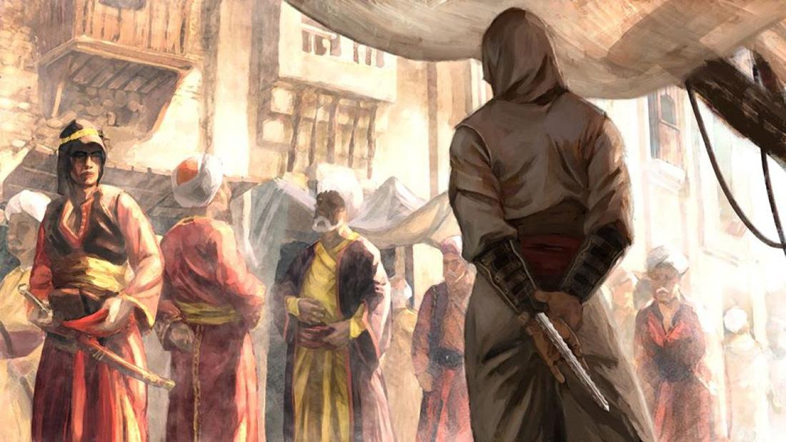 Szkic koncepcyjny z gry Assassin's Creed