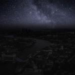 Tak wyglądałoby niebo nad Londynem gdyby… wyłączono wszystkie światła
