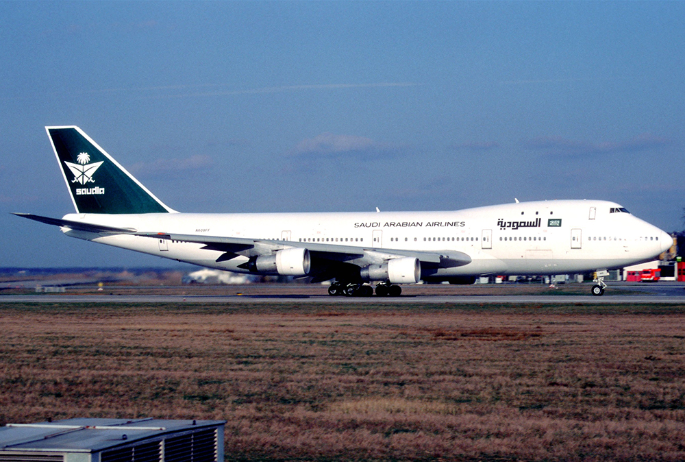 Saudi_Arabian_Airlines_Boeing_747-100;_N609FF,_July_1996_(5875759675)